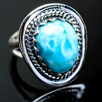 Larimar 925 Sterling Silver Ring Size 6.5 Ana Co Jewelry R995276F