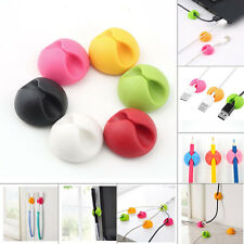 12X Cable Drop Clip Desk Tidy Organiser Wire Cord Lead USB Charger Holder KY2017