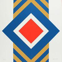 Winfred Gaul: Grafische Komposition 1968, signiert, nummeriert