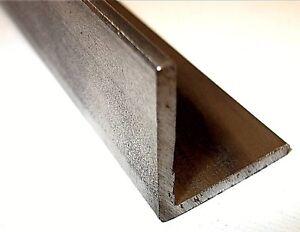 Mild Steel Angle Iron Black Finish Bar 13mm - 50mm 100mm - 3 Metre Lengths.