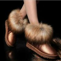 Waterproof Women Shoes Thick Fur Snow Boots Winter Warm Ankle Tassel Shoes P1