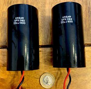 Ansar SPX 22uf 600V Pair rare can version Upgrade crossovers midrange.