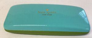 Kate Spade Sunglass Eyeglass Case Green Blue Hard Shell