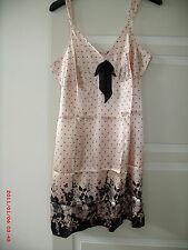 Ladies Pink Polka Dot Pour Moi? Chemise Nightie Sleepwear UK Size 16, Suit 12-14