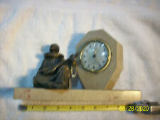 Jaz clock made in France / marble case / lute player / runs