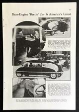 Stout Scarab 1935 *Rear Engine Beetle Car* vintage original pictorial