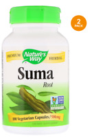 Nature's Way Suma Root 500 mg 200 Vegetarian Capsules