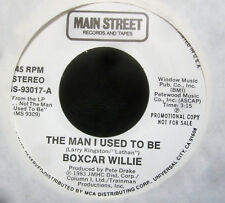 """Boxcar Willie - THE MAN I USED TO BE (1983) Promo 7"""" Vinyl Single - NM"""