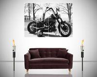 Harley Davidson Motorcycle Classic Stunning Photo Giant Poster Wall Art Print