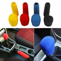 1set Manual Car Hand Brake Case Silicone Gear Head Shift Knob Cover Blue~ NC