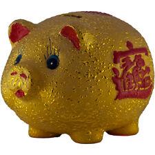 CHINESISCHES SPARSCHWEIN 10x8x7cm Feng-Shui Glücksschwein Münzen Geld Spardose