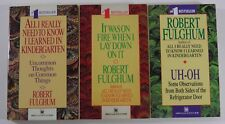 LOT OF 3 ROBERT FULGHUM PAPERBACK PB BOOKS KINDERGARTEN UH-OH IT WAS ON FIRE
