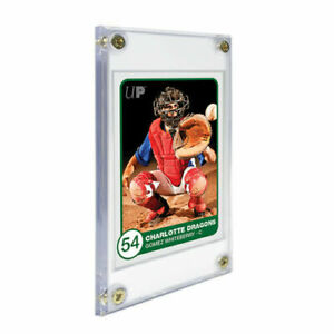 "Ultra PRO 1/4"" Screwdown Recessed Card Display Holder Standard Size 4 Screw"