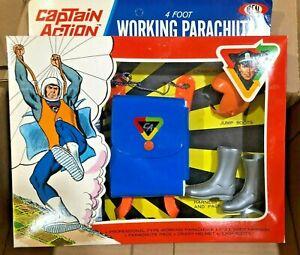 VINTAGE 1967 Captain Action 4 Foot Parachute, NIB
