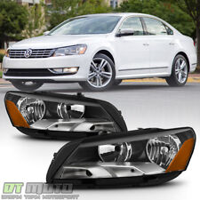2012 2013 2014 2015 VW Volkswagen Passat Halogen Headlights Headlamps Left+Right