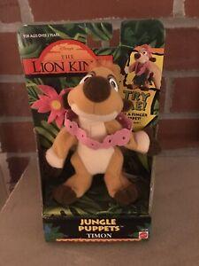 Disney The Lion King Jungle Finger Puppet Timon Vintage Mattel 1994
