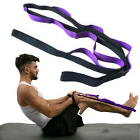 1PC Unisex Yoga Stretch Out Yoga Strap With 2M Flexible Loops Pilates Workouts