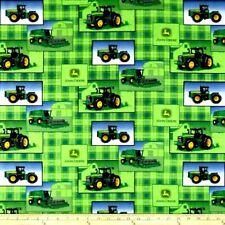 John Deere Tractors Fabric Fat Quarter Cotton Craft Quilting Farming Patch