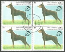 Dog Doberman block of 4 stamps (48)