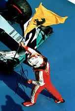 Sebastian VETTEL SIGNED FERRARI Flag 12x8 Formula 1 Malaysia Photo AFTAL COA