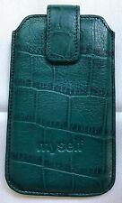 Neue und orig. grüne Handyhülle aus Leder von Picard - verschließbar mit Magnet