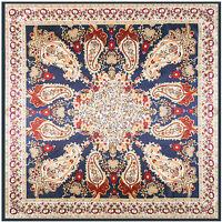"Women's Fashion Paisley Print Hijab Satin-Silk Square Shawl Scarf Stole 35""*35"""