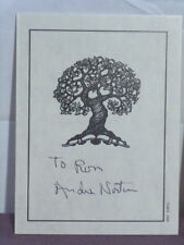 signed bookplate inscribed 'To Ron' by Andre Norton