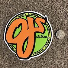 Oj Wheels Skateboard Sticker
