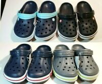 CROCS Bayaband  and Crocband II Clogs Unisex kids blue,black,gray SZ J1,J2,J3