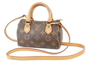 Auth LOUIS VUITTON Speedy Mini Monogram Boston 2-Way Shoulder Handbag #39247