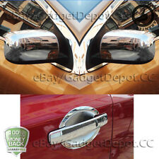 For Nissan Rogue 2008 09 10 11 12 2013 Chrome Mirror Cover Door Handles Covers