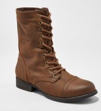 NEW Womens Cassie Combat Boots-Mossimo Supply Co Cognac Size 5.5 Brown FREE SHIP
