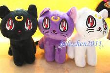 "3Pcs/Set Sailor Moon Yatimisi Luna Diana Cat 7"" Stuffed Soft Plush Toy Doll GIFT"