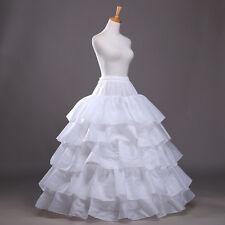 4-Hoop Wedding Party Ball Gown Crinoline Bridal Dress Petticoat Skirt Underskirt