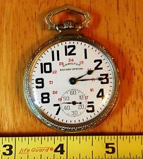 1935 HAMILTON 992 RAILWAY SPECIAL POCKET WATCH, 21 J.,STAR 10K GOLD FILLED CASE