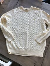 LYLE & SCOTT CABLE KNIT JUMPER - SIZE XXL