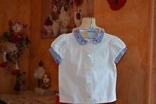 blouse tartine et chocolat 2 ans col avec des coqs maison petits carreaux