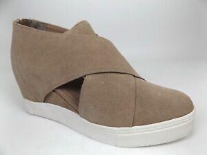 Steve Madden Vander Slip On Wedge Sneaker, Womens Size 7M, Taupe Suede NEW 21115