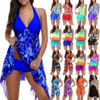 Ladies Tankini Set Bikini Swimwear Swim Dress Vest Beachwear Summer Bathing Suit