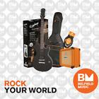 Epiphone Les Paul Special Electric Guitar Pack Ebony Vintage Orange Crush 12 Amp for sale