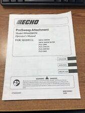 ECHO PRO SWEEP ATTACHMENT MODEL 99944200550  IN ENGLISH, ESPANOL & FRANCAIS