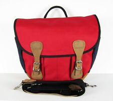 NWT J Crew Billykirk for J.Crew messenger bag Red Navy $250 Item 16152