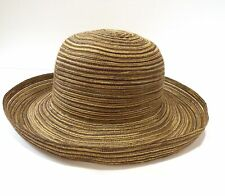 WALLAROO BOULDER CO SYDNEY SHADES OF BROWN TRAVEL PACKABLE CRUSHABLE SUN HAT EUC