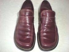 Franco Sarto Burgundy Fine Leather Slip On Loafers Size 6 M Fine Condition