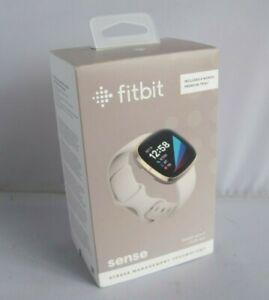 Fitbit Sense Advanced Health & Fitness Smartwatch Soft Gold FB512GLWT