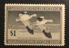 TDStamps: US Federal Duck Stamps Scott#RW14 Mint OG Lightly Gum Bend
