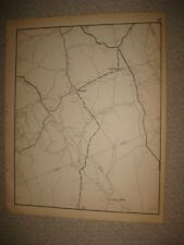 ANTIQUE 1931 REDDING 7 RIDGE VALLEY FORGE FAIRFIELD COUNTY CONNECTICUT MAP RARE