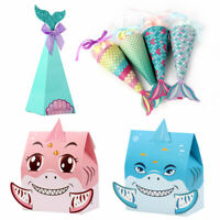 Ourwarm Mermaid Candy Boxes Shark Gift Bag Birthday Wedding Party Gift Treat Bag