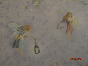 Dolls House Wallpaper Sheet Fairies by Jackson's Miniatues on Lilac 1:12