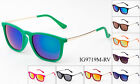 Velvet Unisex Sunglasses Party Mirrored Square Eyewear Fuzzy Retro 9 Colors New